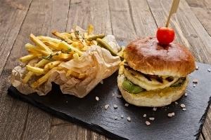 Пица сандвичи - Вегетариански бургер