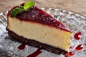 Десерти - Чийз кейк с вишни